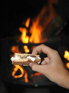 Roasting Marshmallows and Making Smores