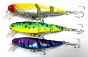 2012-new-Minow-lure-plastic-3-sections-Jointed-Hard-Bait-Fishing-lures-tackle-8-5CM-9